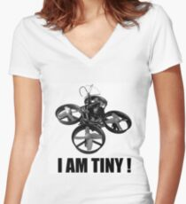 tiny whoop I am tiny fpv Women's Fitted V-Neck T-Shirt