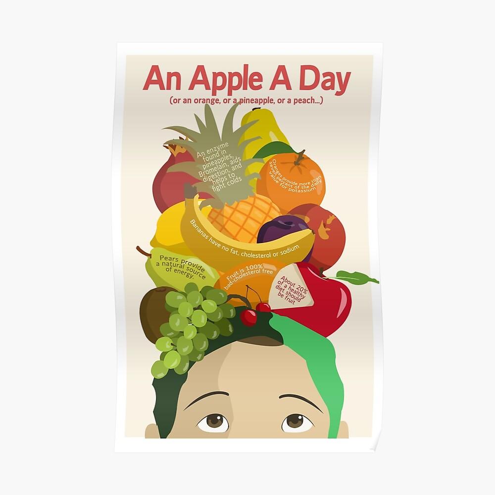 Ein Apple A Day - Gesundheitsplakat Poster