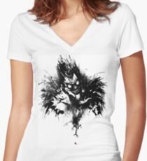 Ryuk Shinigami Women's Fitted V-Neck T-Shirt