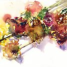 Watercolour painting of roses Day 401. by akolamble
