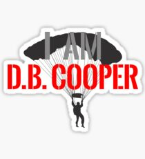 I Am DB Cooper - White Clean Sticker