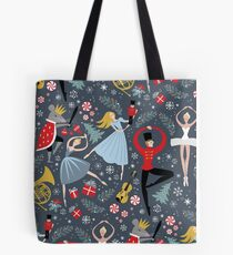 Clara's Nutcracker Ballet repeat by Robin Pickens Tote Bag