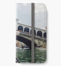 Travelling through Venice - on a Gondola iPhone Wallet/Case/Skin