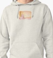 Cute Little Sitting Wolf Pullover Hoodie