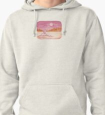 Cute Little Howling Wolf Pullover Hoodie