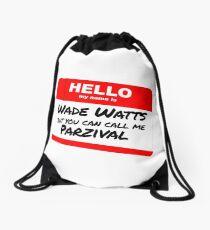 Parzival Name Tag Drawstring Bag