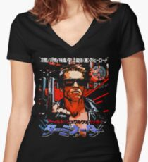 T - 800 Women's Fitted V-Neck T-Shirt