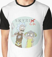 Skyrick- Rick and Morty Skyrim parody Graphic T-Shirt