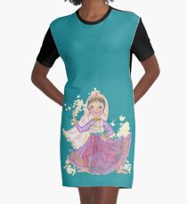 South Asian Dancing Doll Graphic T-Shirt Dress