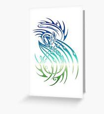Tribal Nature Dragon Lizard Greeting Card