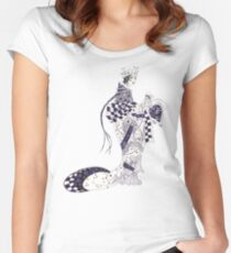 Inky Queen of the Orient Women's Fitted Scoop T-Shirt