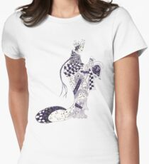 Inky Queen of the Orient Fitted T-Shirt
