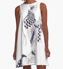 Inky Queen of the Orient A-Line Dress