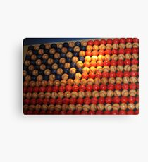 Stars and Stripes baseball style..... Canvas Print