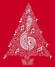 Red Musical Tree by Rose Gerard