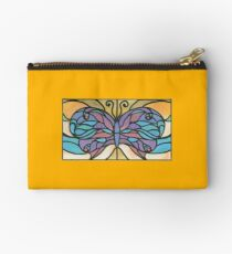 Tiffany Stained Glass Butterfly Studio Pouch