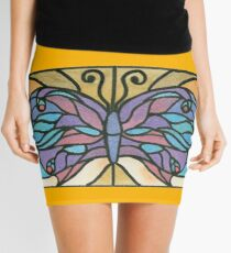 Tiffany Stained Glass Butterfly Mini Skirt