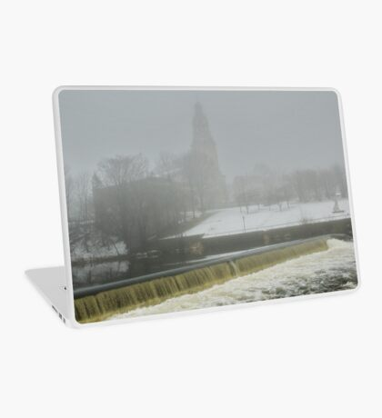 Slater Mill Dam in Winter Laptop Skin