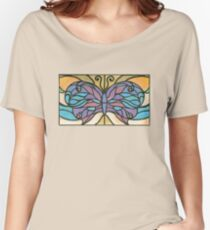 Tiffany Stained Glass Butterfly Women's Relaxed Fit T-Shirt