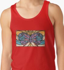 Tiffany Stained Glass Butterfly Tank Top
