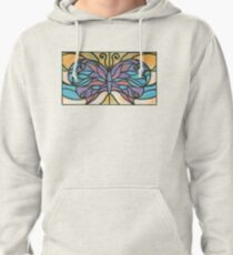 Tiffany Stained Glass Butterfly Pullover Hoodie