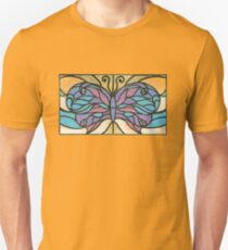 Tiffany Stained Glass Butterfly Unisex T-Shirt