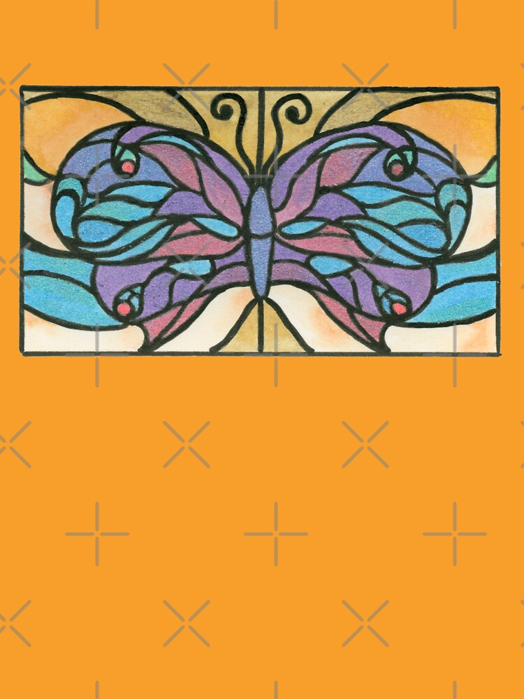 Tiffany Stained Glass Butterfly by HajraMeeks