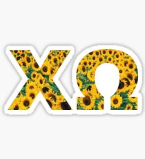 XO in Sunflower Sticker
