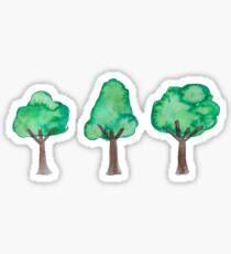 mini watercolor trees Sticker
