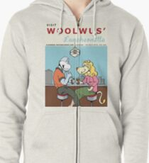 Woolwus' Luncheonette Zipped Hoodie
