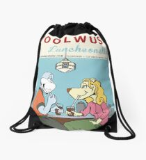 Woolwus' Luncheonette Drawstring Bag