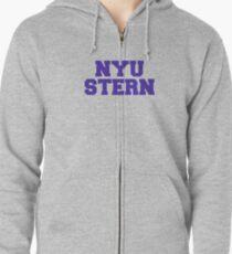 NYU stern Zipped Hoodie