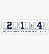 Making America's Team Great Again (Blue Numbers) Sticker