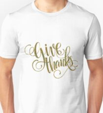 Giving Thanks Elegant Typography Design T-Shirt