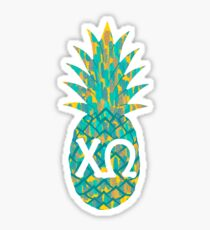 XO Fresh Pineapple in Tropical Sticker