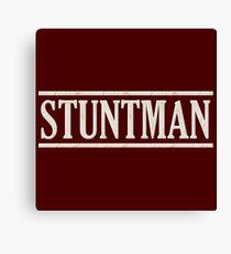 Stuntman (white) Canvas Print