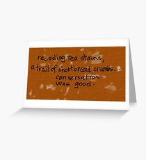 tea stains Greeting Card