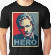Assange 'HERO' poster - Ultra HD Unisex T-Shirt
