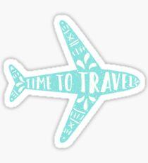 Zeit zu reisen Sticker