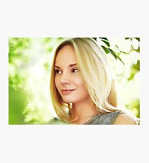 Beautiful young woman at summertime Photographic Print