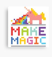 Make magic / Unicorn power Canvas Print
