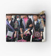 Sapa, Vietnam - Young  Hmong girls Studio Pouch