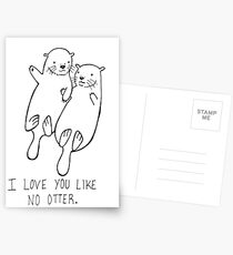 I Love You Like No Otter Postcards