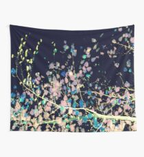 Nature Pattern # 4 - Birch (Blue) Wall Tapestry
