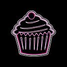 Neon Pink Cupcake from the Future by EvePenman