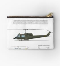 Bell Huey Helicopter (UH-1C gunship) Studio Pouch