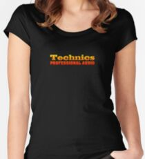 Colorful Technics Women's Fitted Scoop T-Shirt