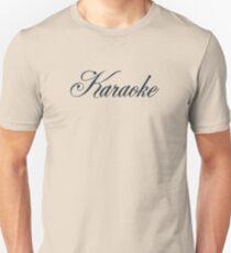Vintage Karaoke (black) Unisex T-Shirt