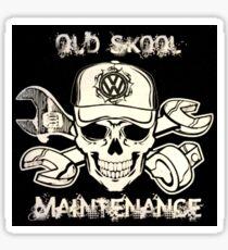 VW Old Skool Maintenance Sticker