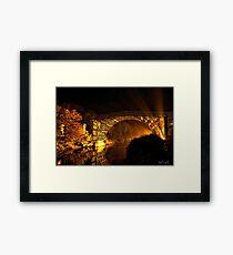night bridge Framed Print